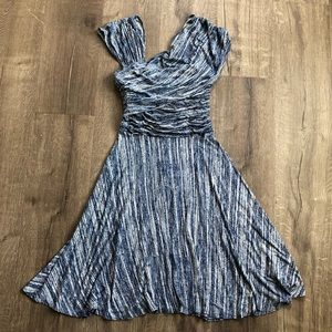 Plenty by Tracy Reese Blue White A Line Dress